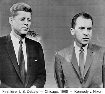 First Ever U.S. Debate  --  Chicago, 1960  --  Kennedy v. Nixon
